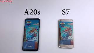 SAMSUNG A20s vs S7   Speed Test Comparison