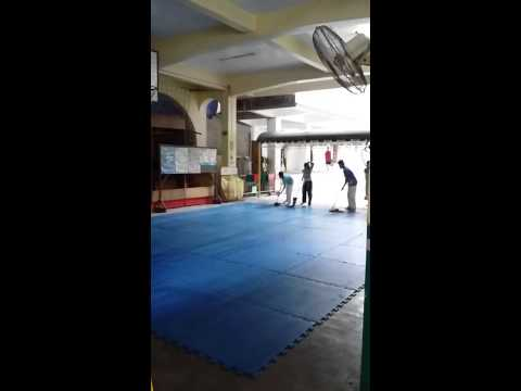 Cleaning the mats