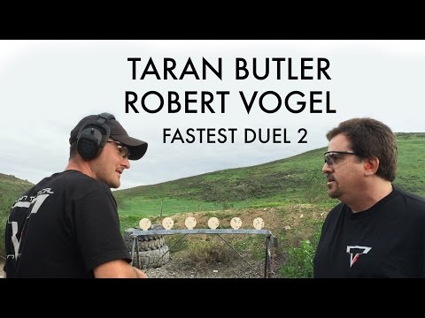 Taran Butler vs Robert Vogel Fastest Duel 2 Shooting Steel !!!