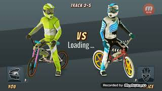 Gameplay of three games roblox and BMX racing and