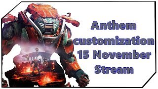 Anthem Javelin customization Charakter anpassen Charakteranpassung 15 November Stream Deutsch Ger