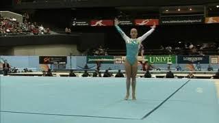 Yevheniya Cherniy (UKR) Floor Team Qualifcations 2010 Rotterdam World Championships