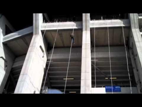 Dan Abseils Twickenham Stadium