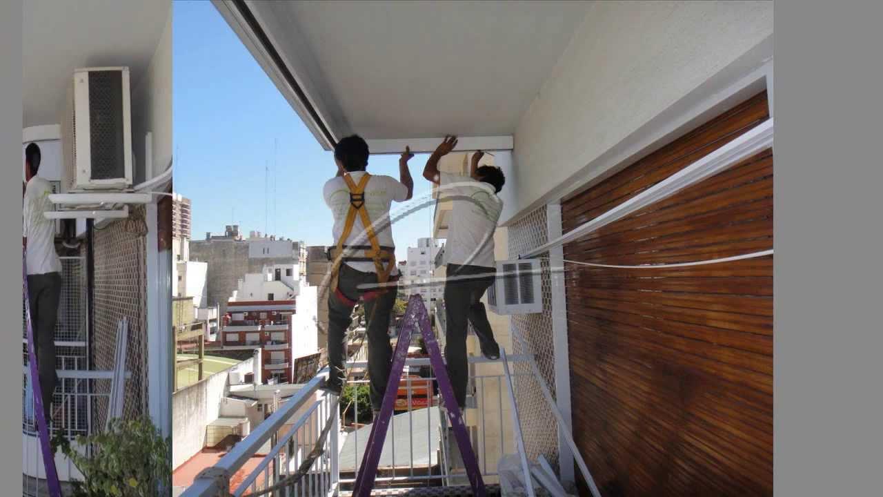 Cerramientos para balcon eco alum youtube for Como cerrar un balcon