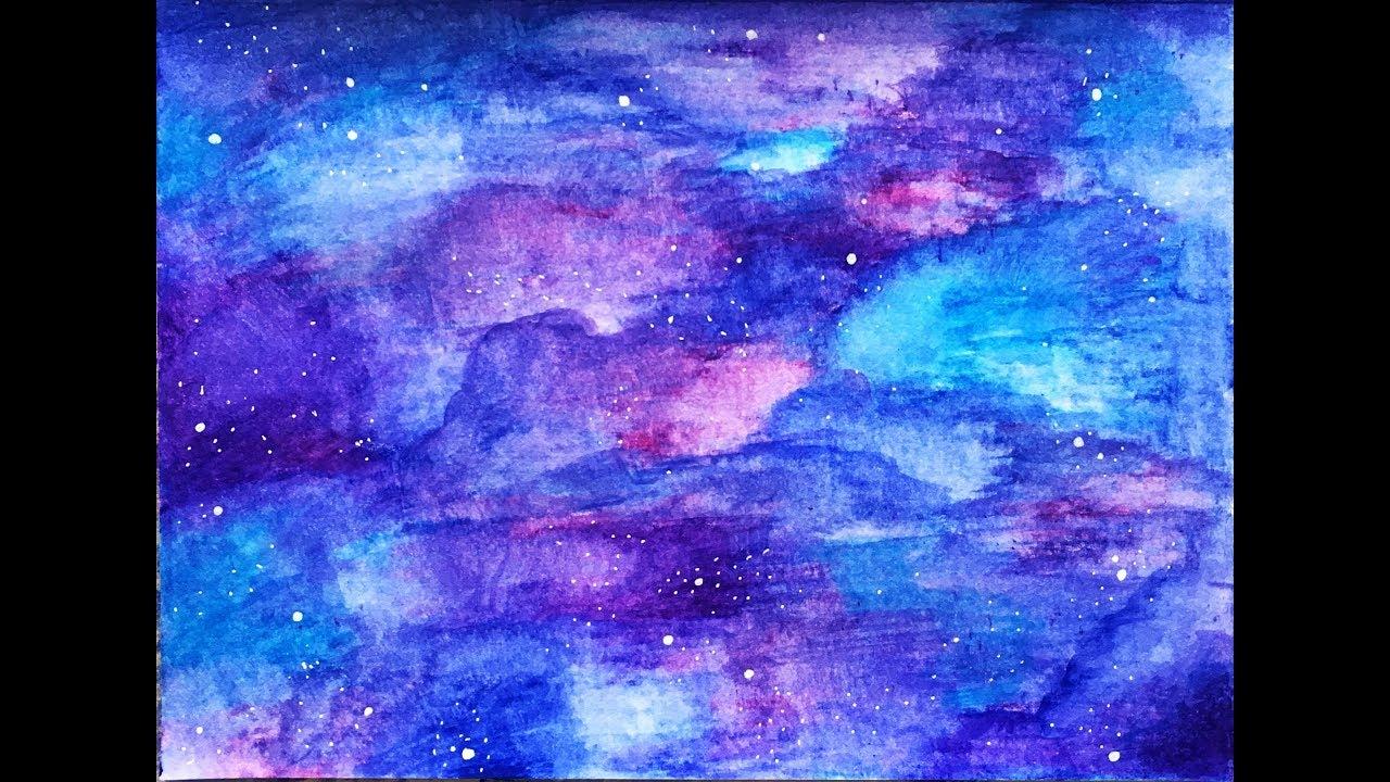 Como Pintar Una Galaxia Paso A Paso Youtube