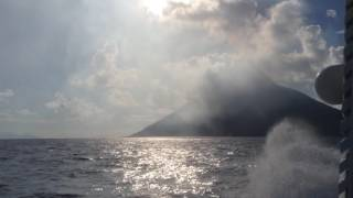 The trip on Vulcan Stromboli , Italy 2014