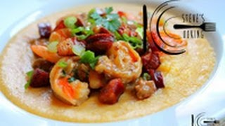 Shrimp And Pancetta Over Soft Polenta Recipe (stevescooking)