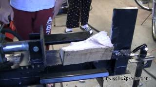 Homemade Log Splitter First TEST! Part 16