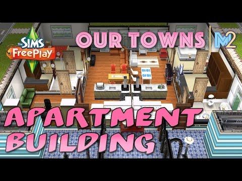 Sims FreePlay - 2nd Apartment Building (Original House Design)