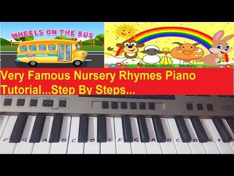 How to play Rhymes on keyboard piano|Harmonium