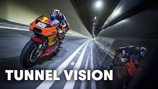 Blasting Through The Gleinalm Tunnel On The KTM Factory Racing MotoGP Bike