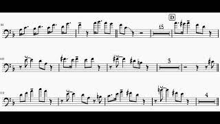 Satin Doll - JJ Johnson Complete Trombone Solo Transcription