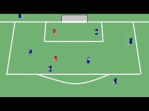 Fútbol Base juegos para el calentamiento