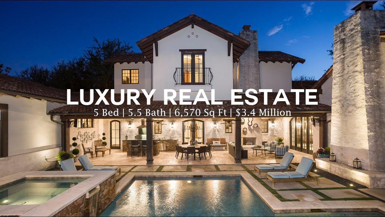 $3.4 MILLION DOLLAR LUXURY REAL ESTATE IN AUSTIN TEXAS (4k Video Tour)