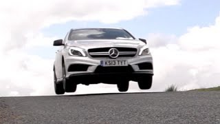 mercedes a45 amg v bmw m135i on road and track chris harris on cars