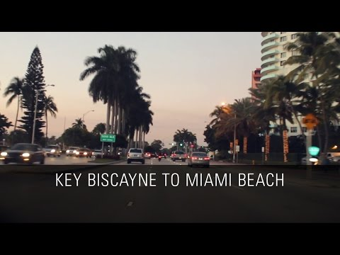 Driving from Key Biscayne to Miami Beach