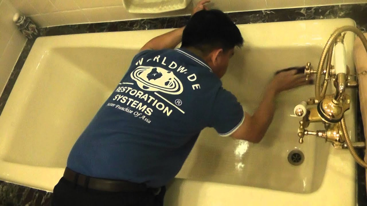 SPRAY U0026 WIPE (SG) Solution To Remove Yellow Stain On Bathtub @ Hotel
