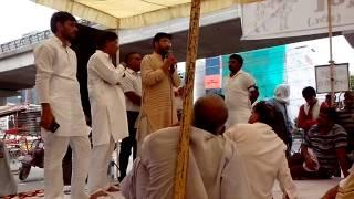 Virender Singh at Goraksha Dharna - Uttam Nagar
