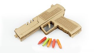 Amazing HK P30L Gun | How To Make Cardboard Gun That Shoots