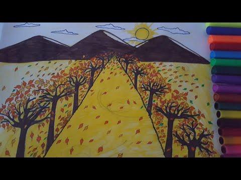 رسومات عن فصل الخريف للاطفال