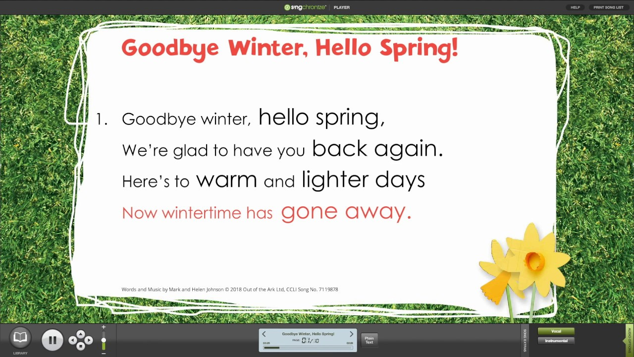 Spring Assembly Songs | Seasonal Songbooks | Out of the Ark