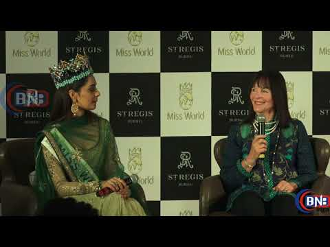 Miss World Manushi Chillar Full Press Conference in Mumbai