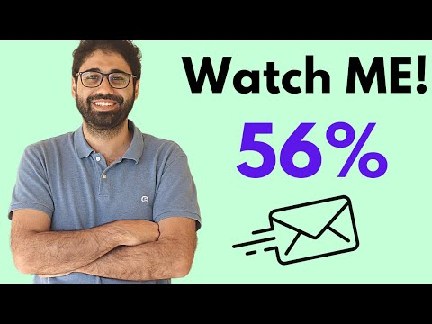 Email Marketing For Beginners: Watch me sending a campaign with 56% Open Rate!