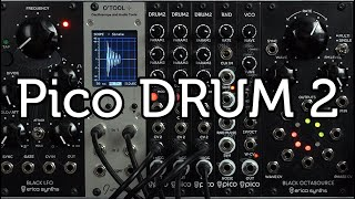 Erica Synths Pico Drum 2 sound demo