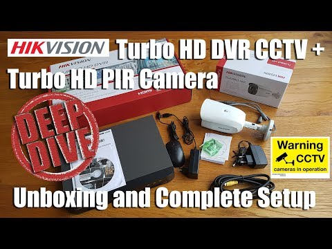Hikvision Turbo HD PIR Camera + Turbo HD DVR CCTV [Unboxing and Complete Setup]