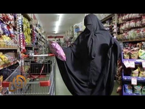 شك الجميع في شكل نقابها.. و عندما رفعت النقاب .. كانت المفاجئة !!