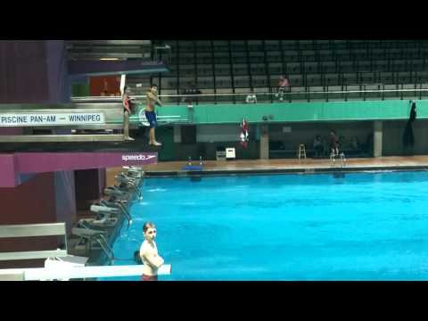 Sawyer Shae levels up at diving. Revolution diving