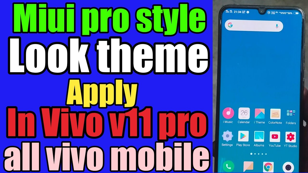 MIUI PRO STYLE LOOK THEME IN VIVO V11 PRO