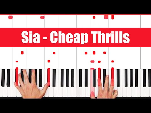 How To Play Cheap Thrills Sia Piano Tutorial (FULL LESSON) ♫ ORIGINAL+VOCAL