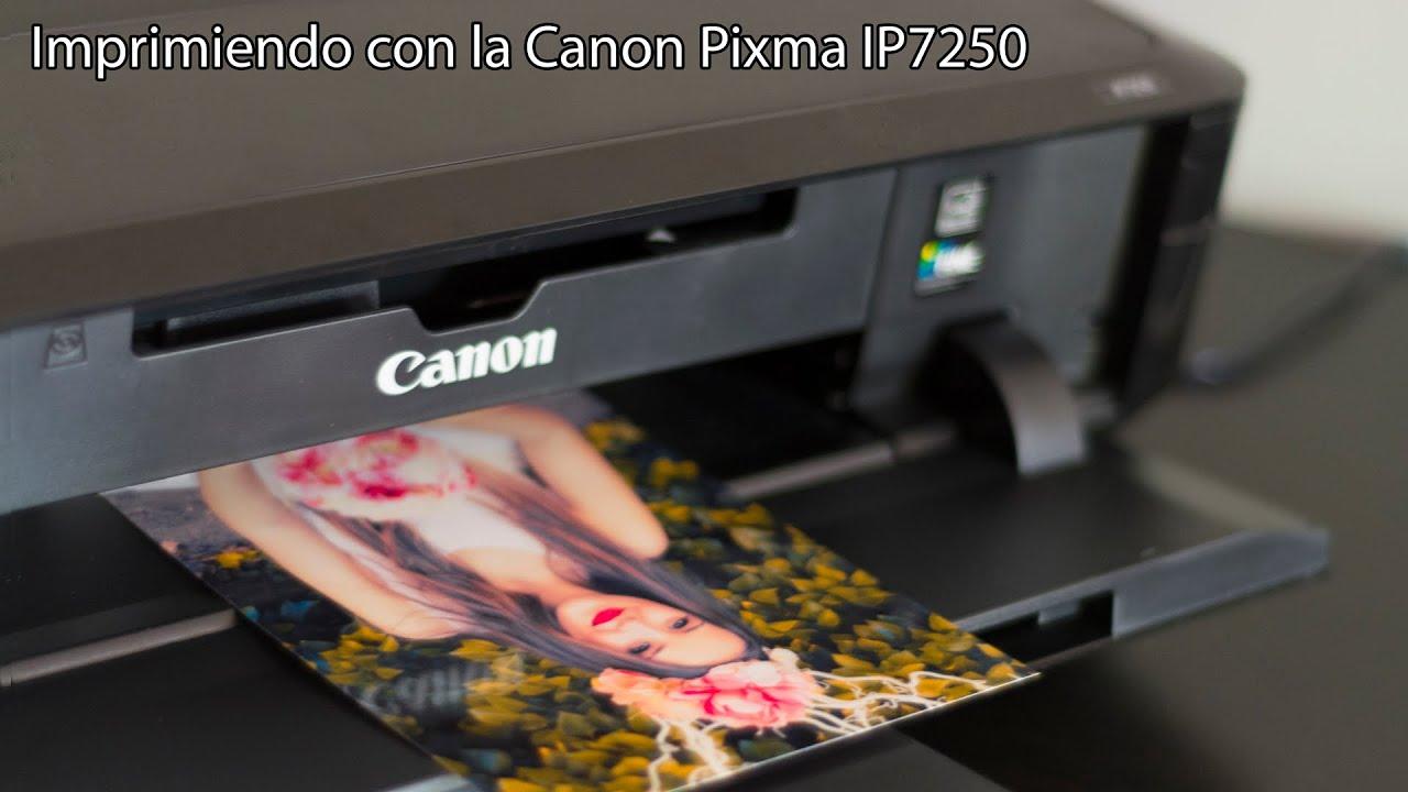 Prueba De Impresi 243 N Canon Pixma Ip7250 En Espa 241 Ol Youtube