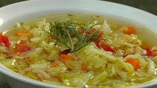 Vegan Vegetarian Greek Recipe: Cabbage Soup - Lahano Katsarolas