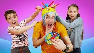 Смешное видео - Челлендж Мания! Игра для детей Мокрая Голова!