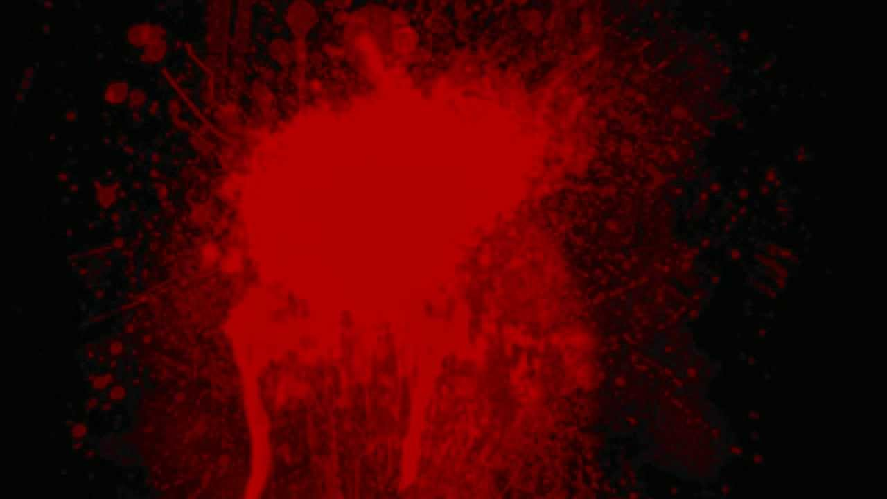 Blood Spatter Splatter On Screen Wall Green Screen