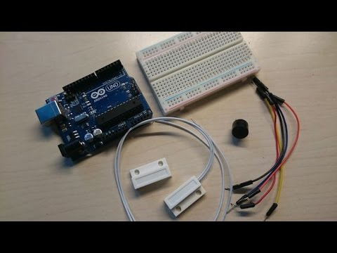 Arduino Tutorial Magnetic Contact Switch Door Sensor