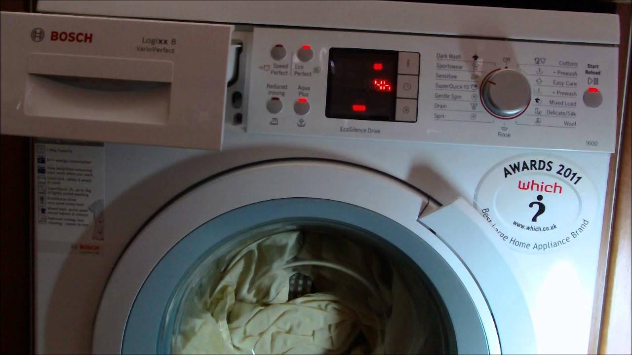 Bosch logixx washing machine time delaydelay end feature youtube buycottarizona Gallery
