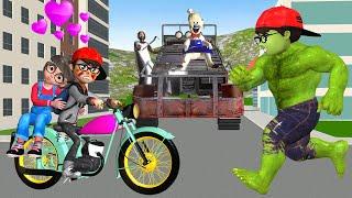 Scary Teacher 3D Nick Love Tani - Granny and Ice Scream 4 Race Terrain Vehicles vs Nick Hulk Rescue screenshot 3