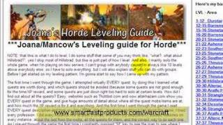 World Of Warcraft Cheats or a Good Wow Guide? horde leveling