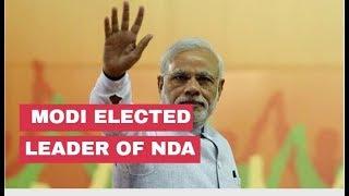PM Modi elected NDA leader at Board Meeting