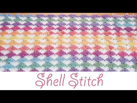 Stunning Crochet Shell Stitch – Blanket / Scarf (beginner friendly)
