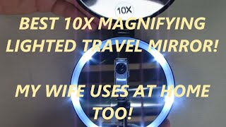 REVIEW Rejuvenate Care Travel Compact Mirror With HD LED Lighting, 1X/10X Magnifying