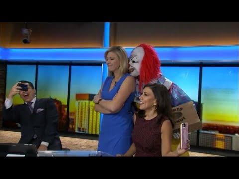 Kristina - Creepy Clowns Terrify Reporters Live on Air