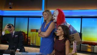 Creepy Clowns Terrify Reporters Live on Air
