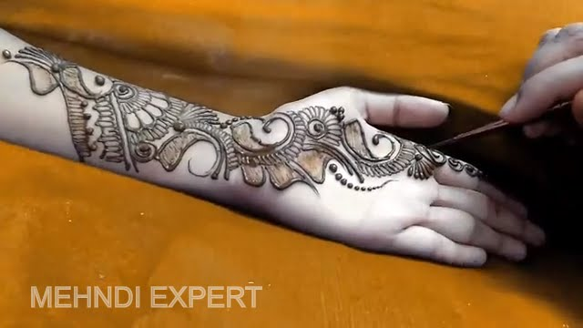 New Designs Mehndi Hands : New indo arabic mehndi design for hands step by youtube
