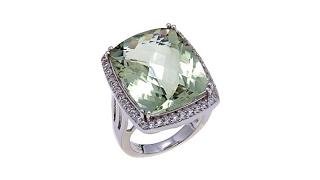 Colleen Lopez 17.13ctw Prasiolite and White Topaz Ring thumbnail