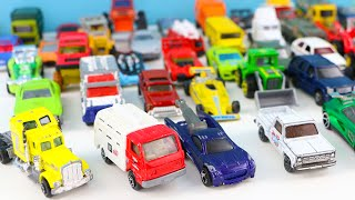 learn to count vehicles toy cars trucks 1 to 50 hot wheels tomica