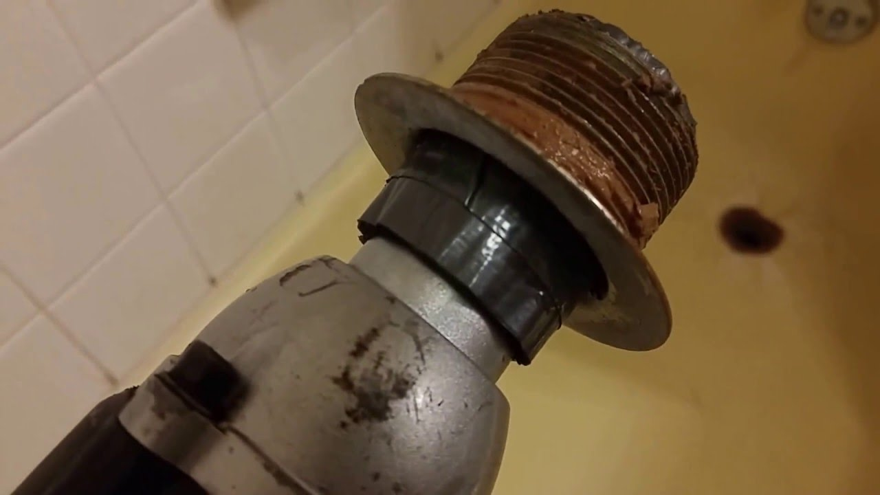Easiest How To Remove Bathtub Drain - YouTube